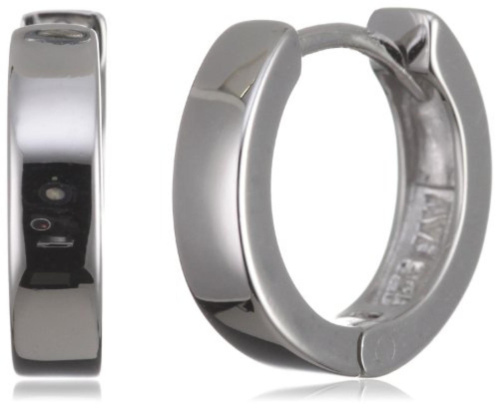 Rafaela Donata Damen-Klappcreolen Classic Collection 925 Sterling Silber hochglanzpoliert  60800007