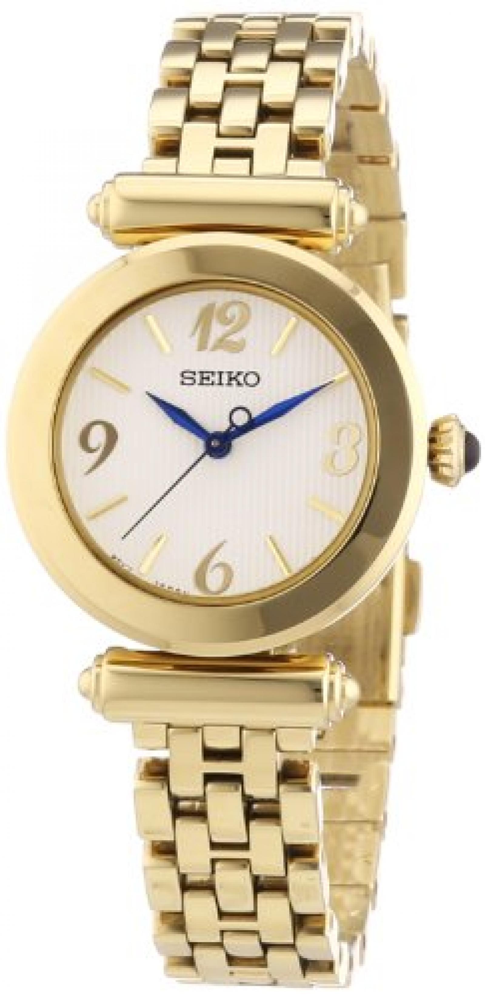 Seiko Damen-Armbanduhr XS Analog Quarz Edelstahl beschichtet SRZ404P1