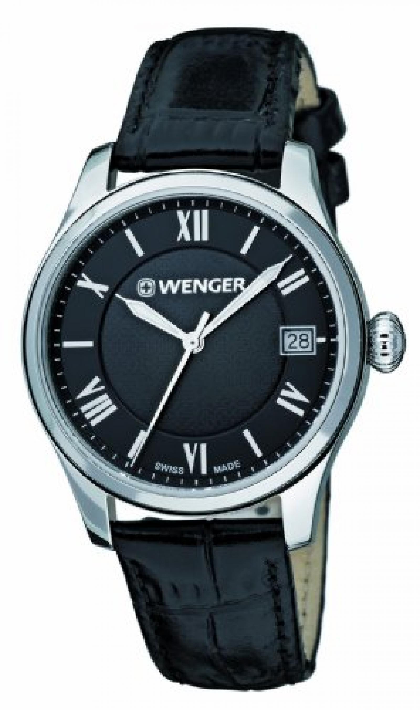 Wenger Damen-Armbanduhr XS Terragraph Analog Quarz Leder 01.0521.104