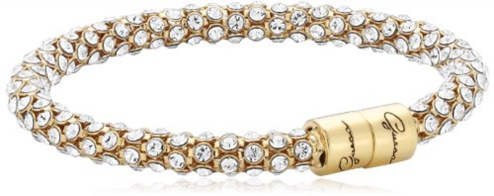 Guess Damen Armband Glamazon Edelstahl Kristall vergoldet UBB81333