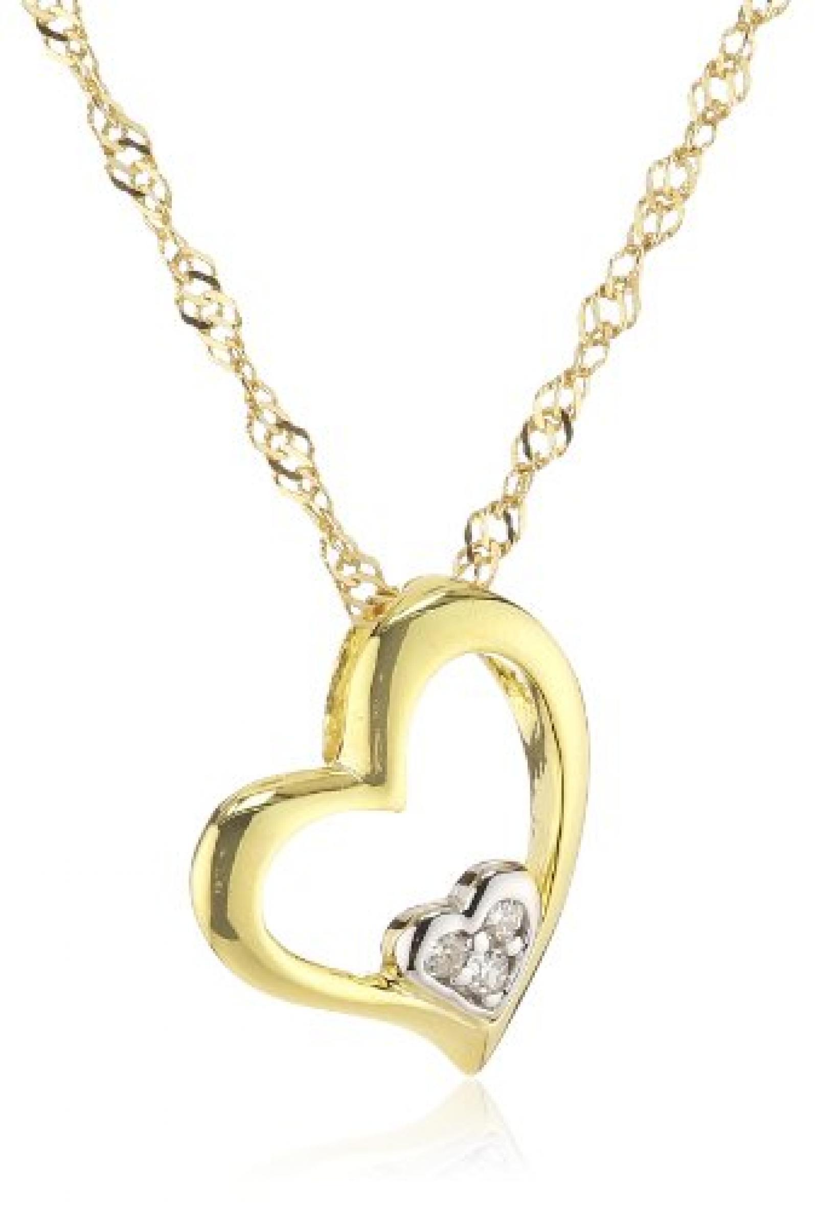Amor Jewelry Damen-Halskette 8 Karat 333 Gelbgold 385329