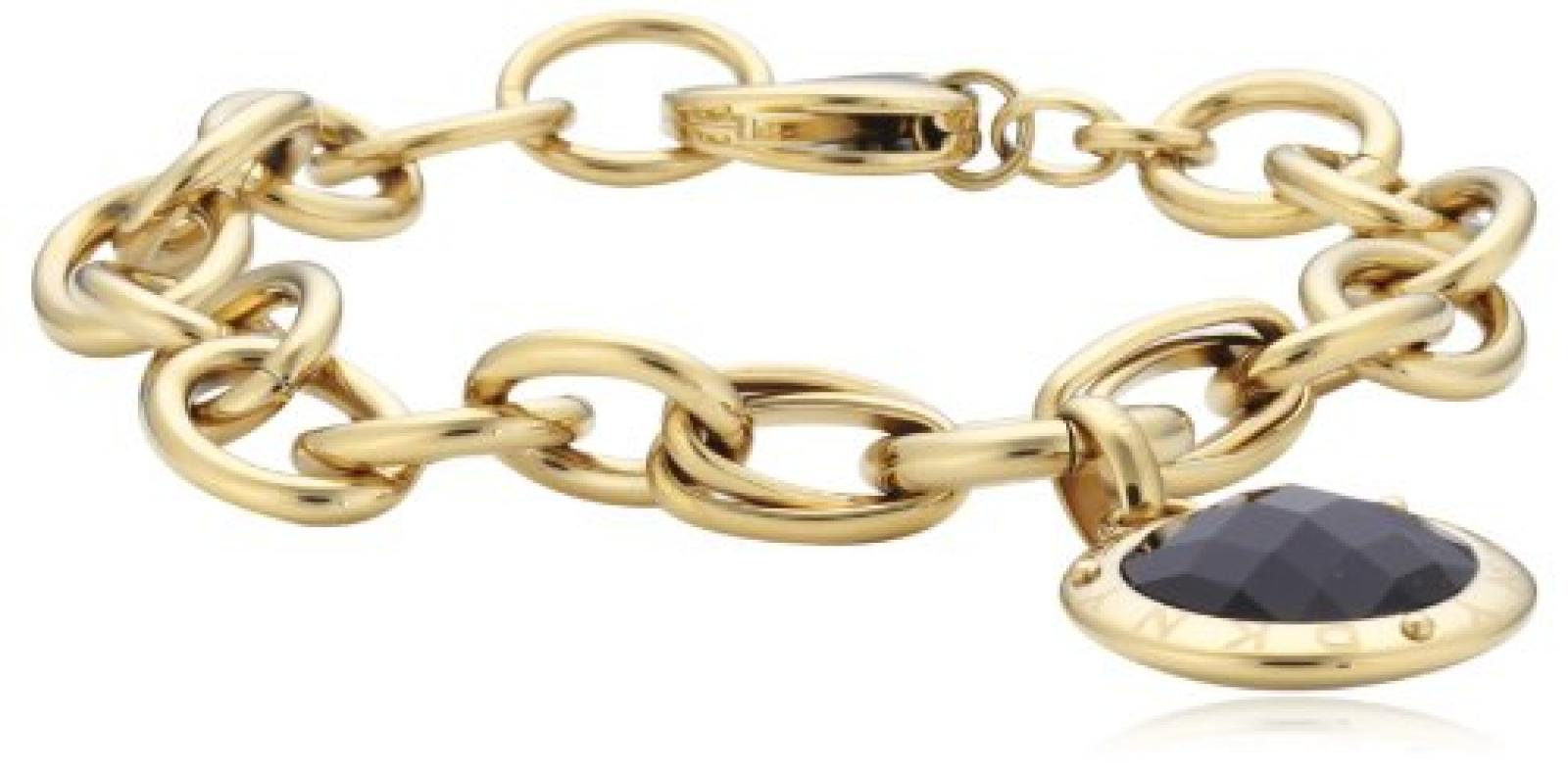 DKNY Damen Armband Edelstahl Glaskristall schwarz NJ2057040