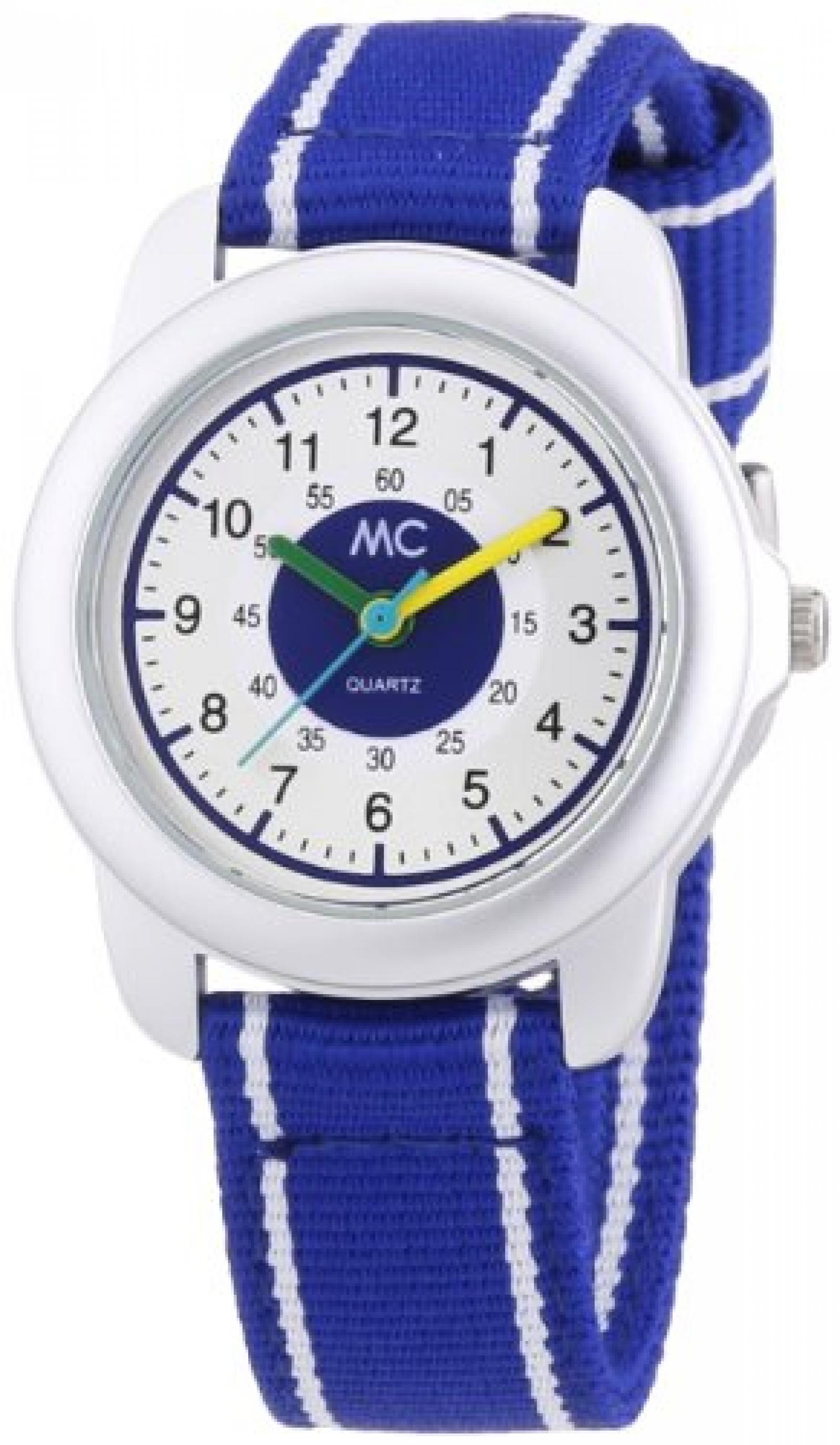 MC Timetrend Jungen-Armbanduhr Lernuhr Quarz Textil 50871