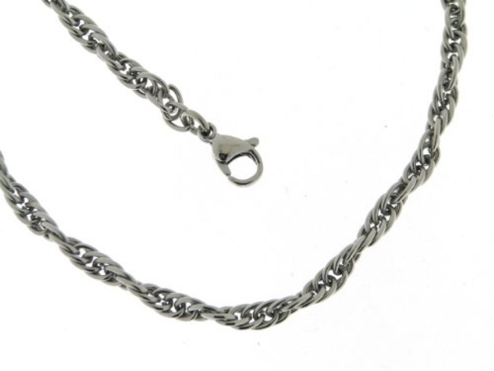 BOB C. Unisex-Halskette ohne Anhänger Metall Ankergliederung 3,0 mm 301532