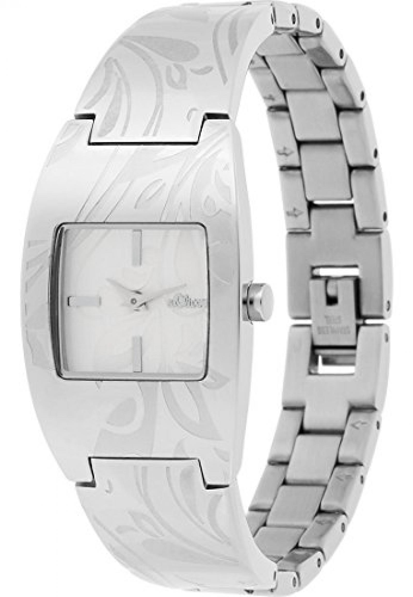 S.Oliver Damen-Armbanduhr Analog Quarz (One Size, silber)
