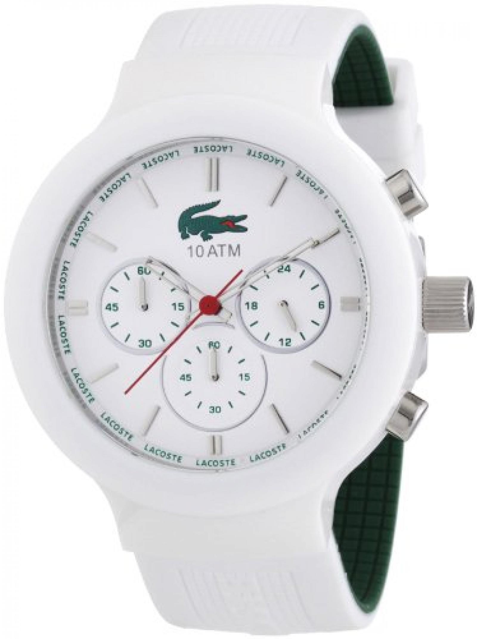 Lacoste Herren-Armbanduhr XL Analog Quarz Silikon 2010653