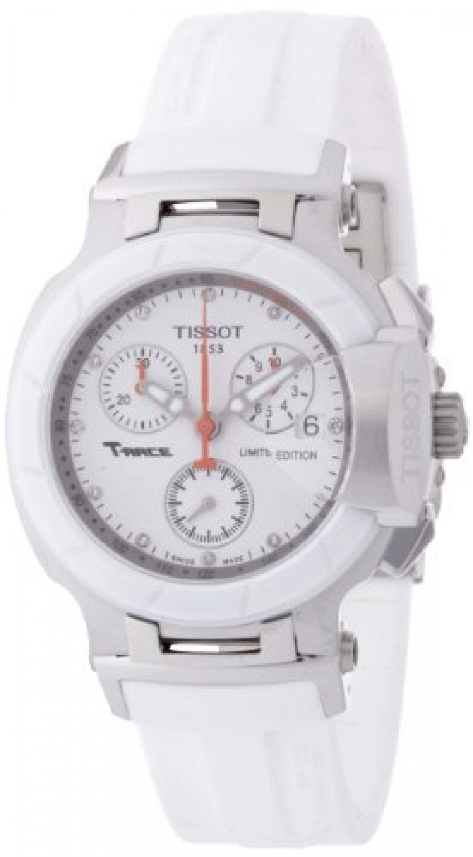 Tissot Damen-Armbanduhr T-Race Chronograph Quarz Kautschuk T048.217.27.016.00