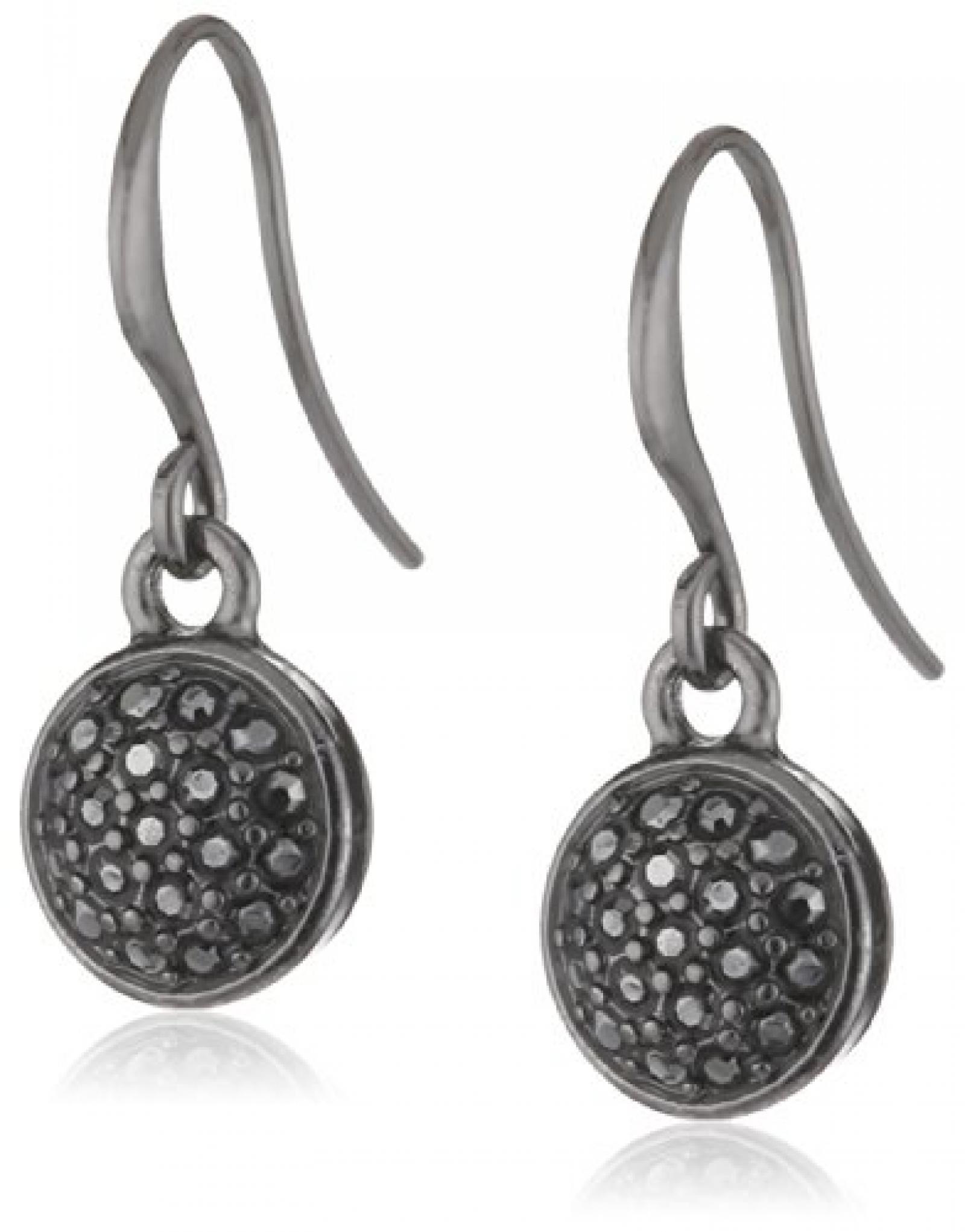 Pilgrim Jewelry Damen-Ohrringe Messing Pilgrim Damen-Ohrstecker aus der Serie Classic hematite beschichtet,schwarz 2.5 cm 601333013