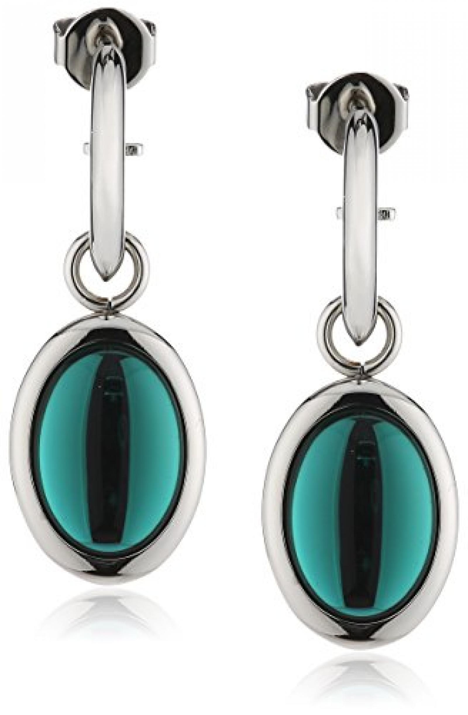 Leonardo Jewels Damen-Ohrhänger Edelstahl Glas Caramello 3.8 cm 015327