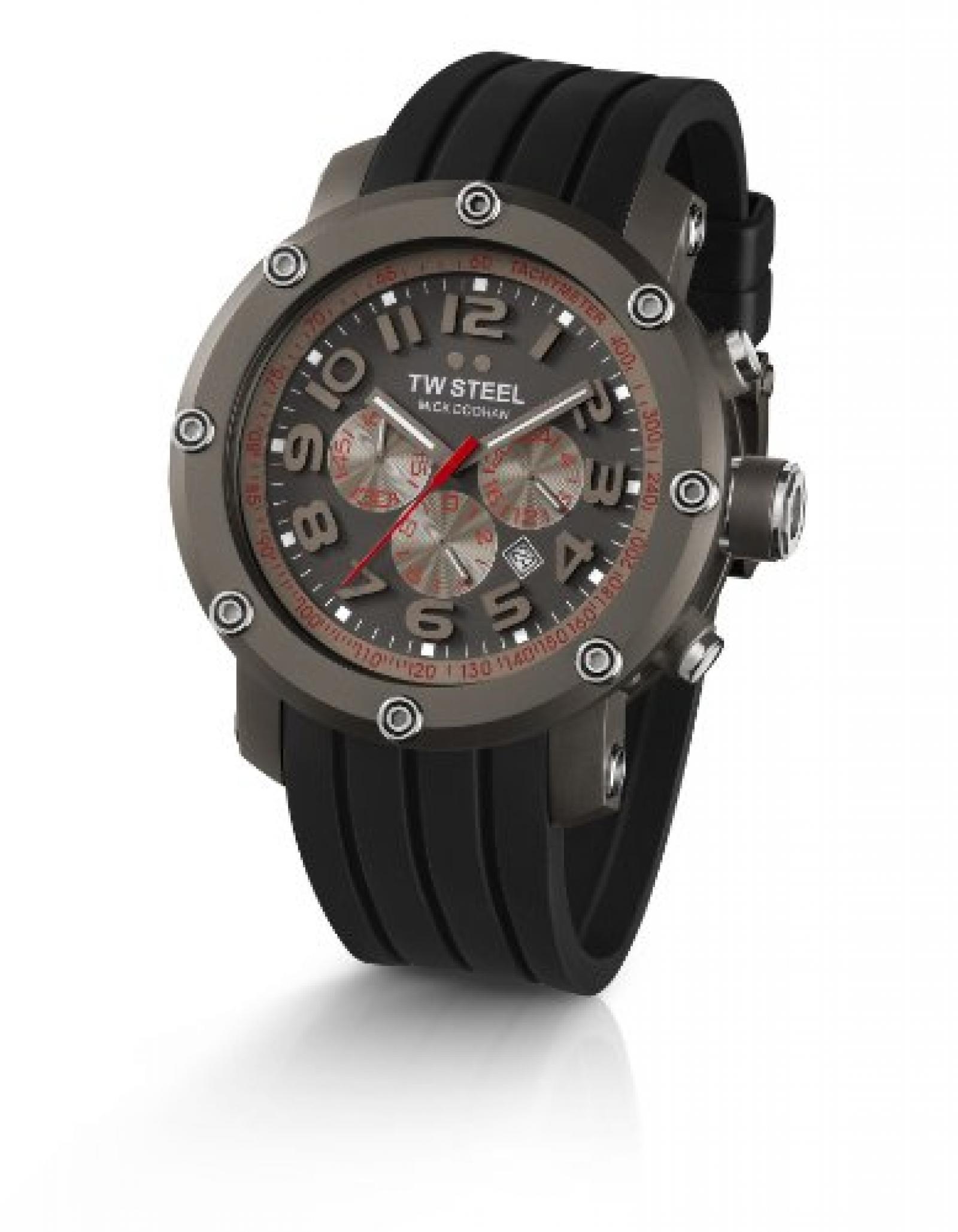 TW Steel Sonder-Edition Herren-Armbanduhr XL Grandeur Tech Chronograph Silikon TW-613
