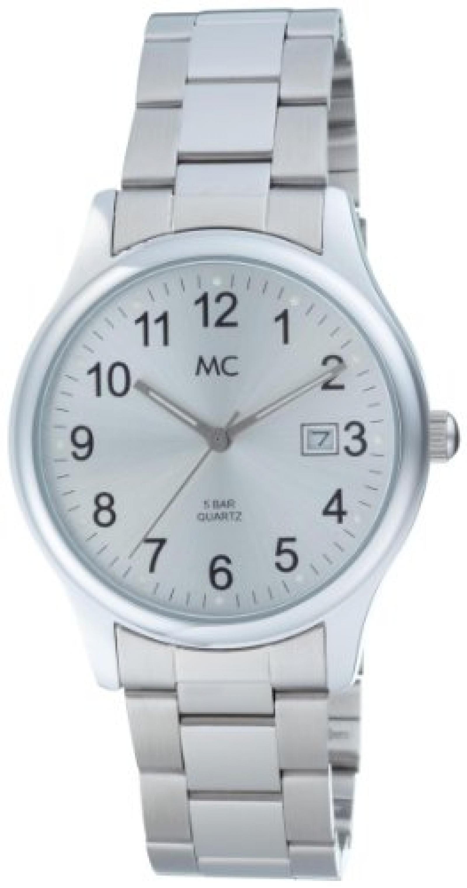 MC Timetrend Herren-Armbanduhr Analog Quarz Metallband 26480