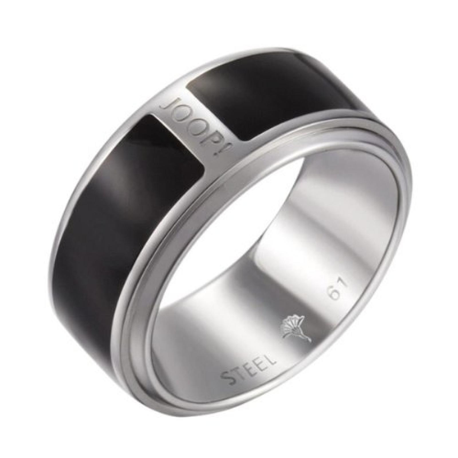 Joop Herren-Ring Sharp Epoxy schwarz Edelstahl Gr. 63 (20.1) JPRG10590A630