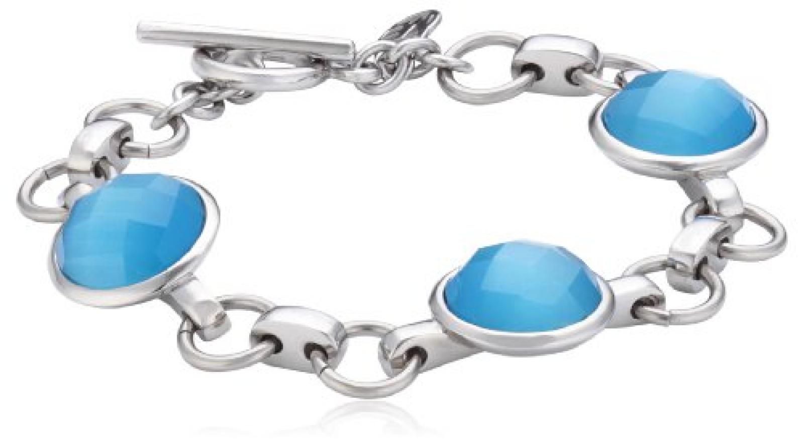 Mike Ellis New York Damen Armband Edelstahl Glas 19.0 cm S170 IPS BLUE