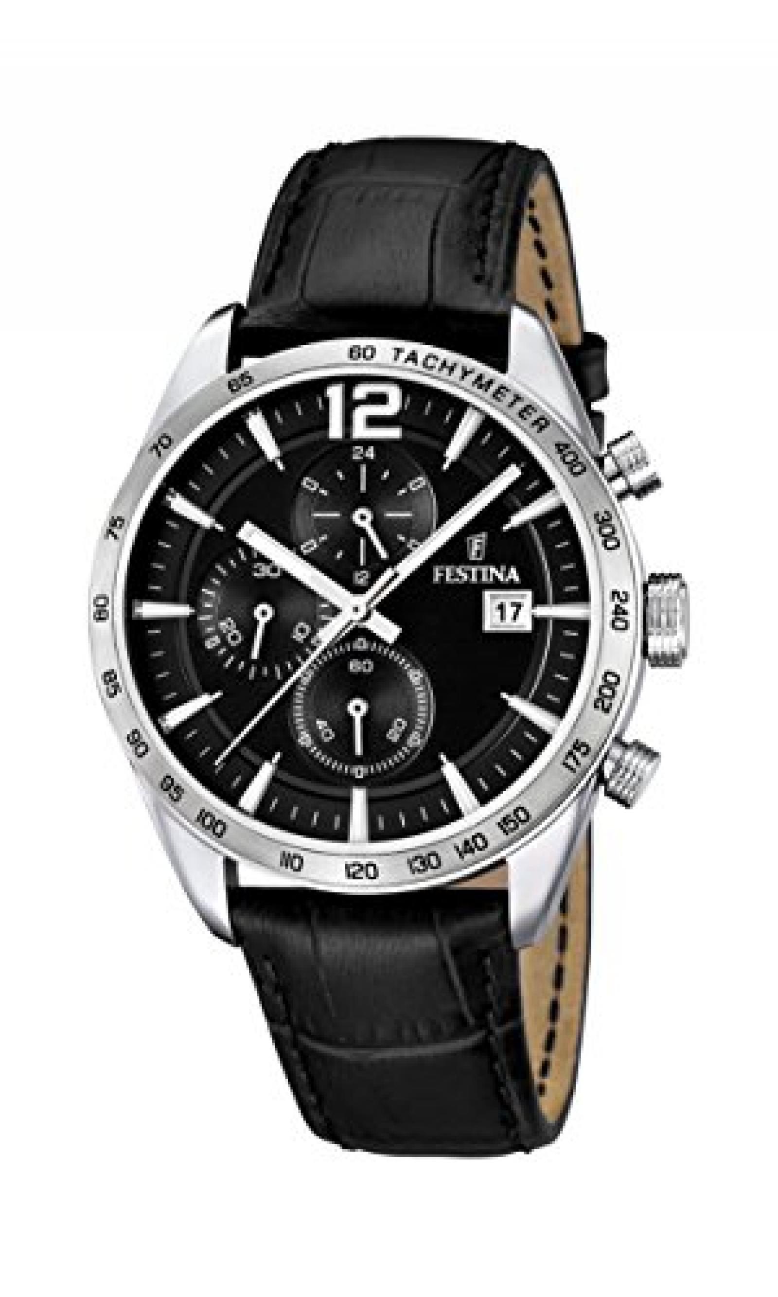Festina Herren-Armbanduhr XL Analog Quarz Leder F16760/4