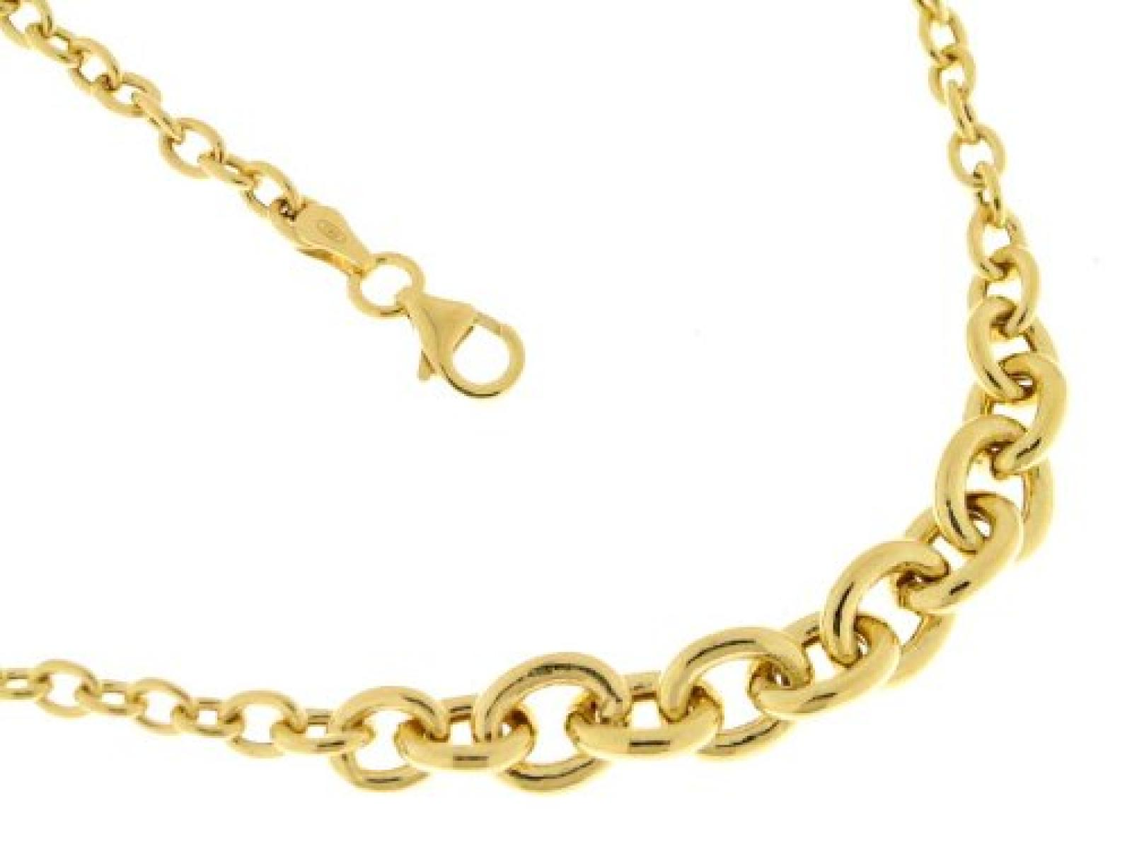 Kettenworld Damen-Halskette ohne Anhänger 925 Sterling Silber vergoldet 294073