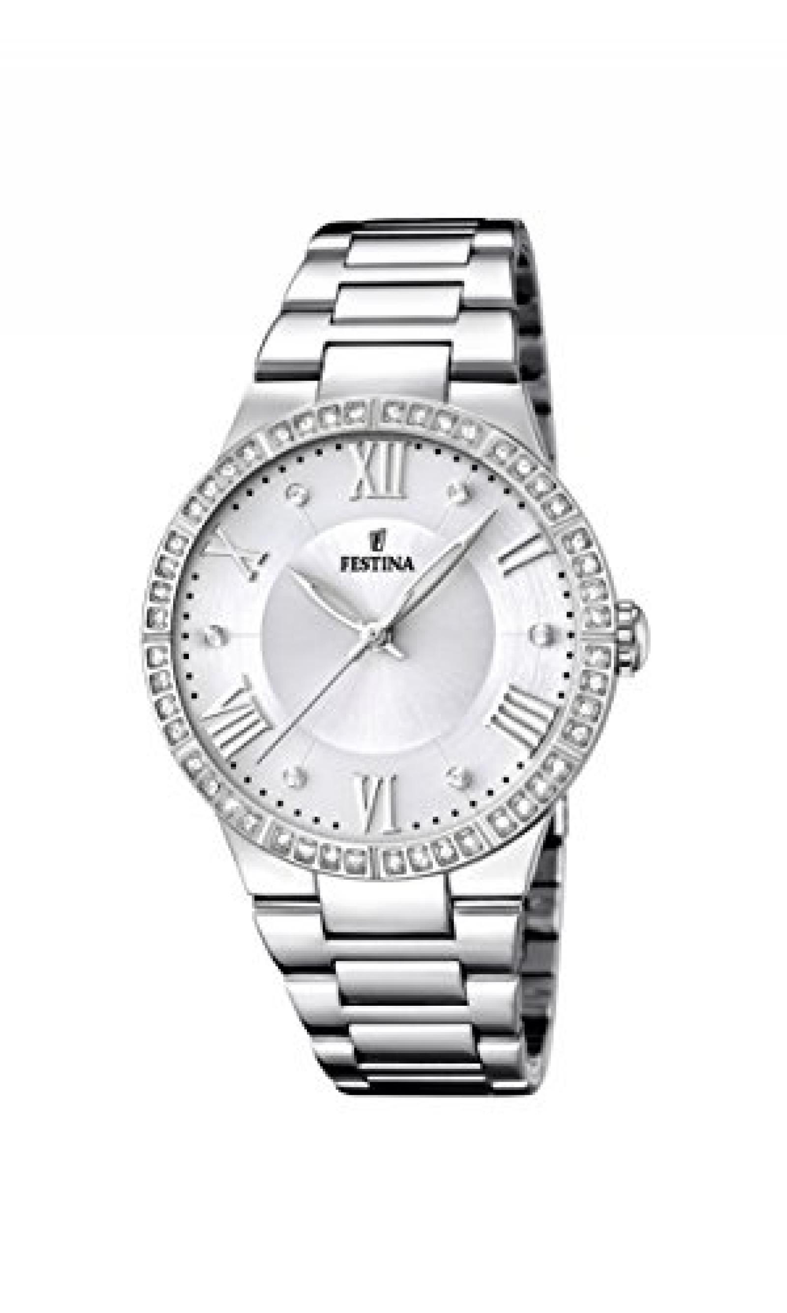 Festina Damen-Armbanduhr Analog Quarz Edelstahl F16719/1
