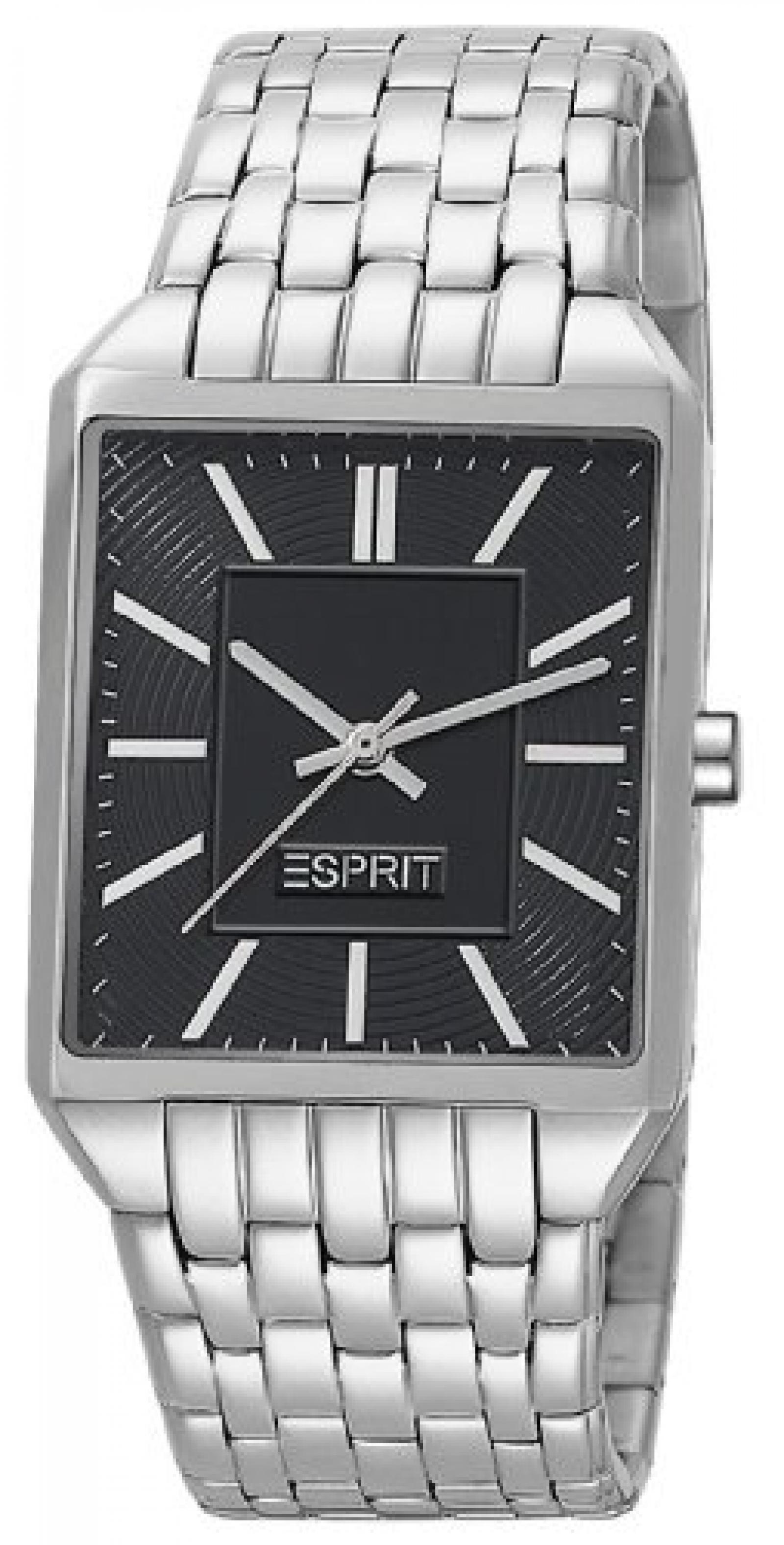 Esprit Damen-Armbanduhr Alameda Silver Black Analog Quarz Edelstahl ES104652005