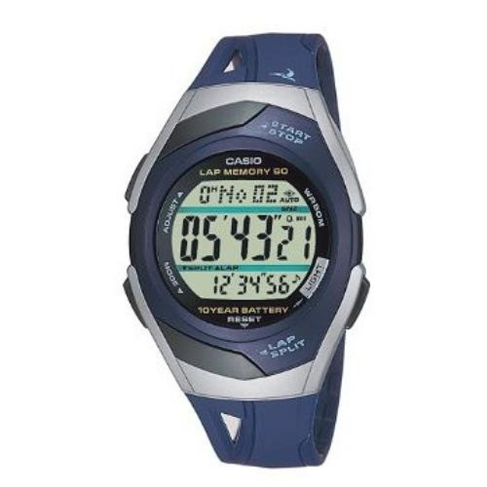 Casio Collection Unisex-Armbanduhr Sport Laufuhr Digital Quarz STR-300C-2VER