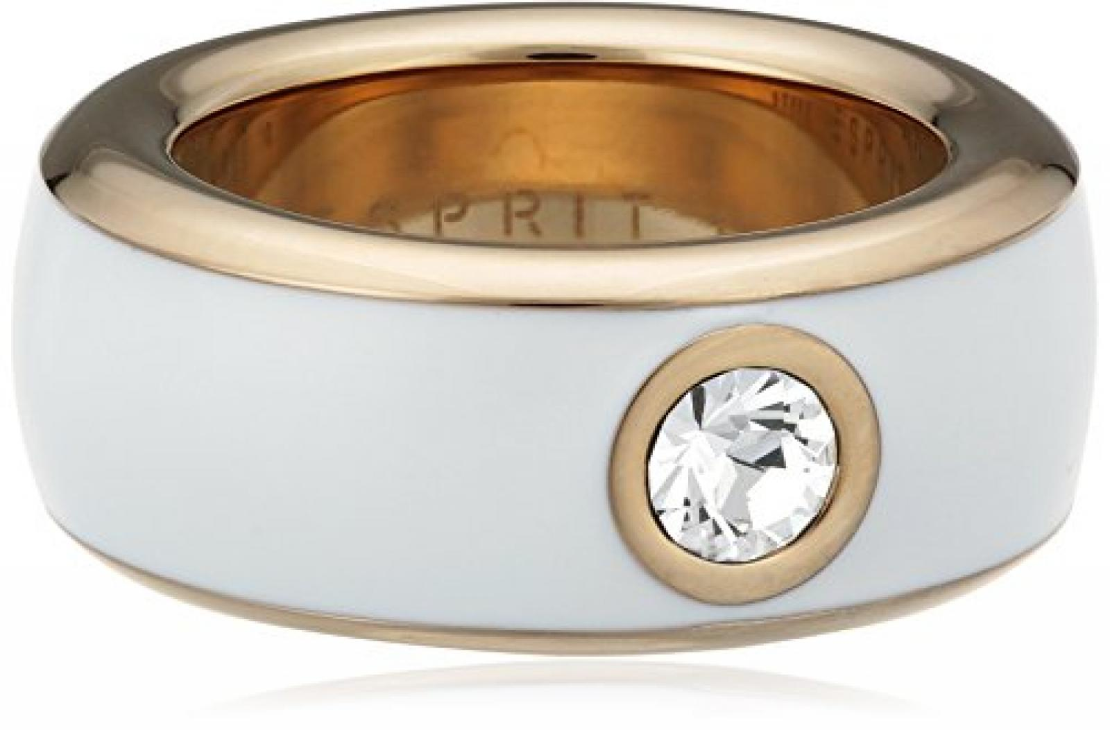 Esprit Jewels Damen-Ring Edelstahl Fancy white rose ESRG12194G1