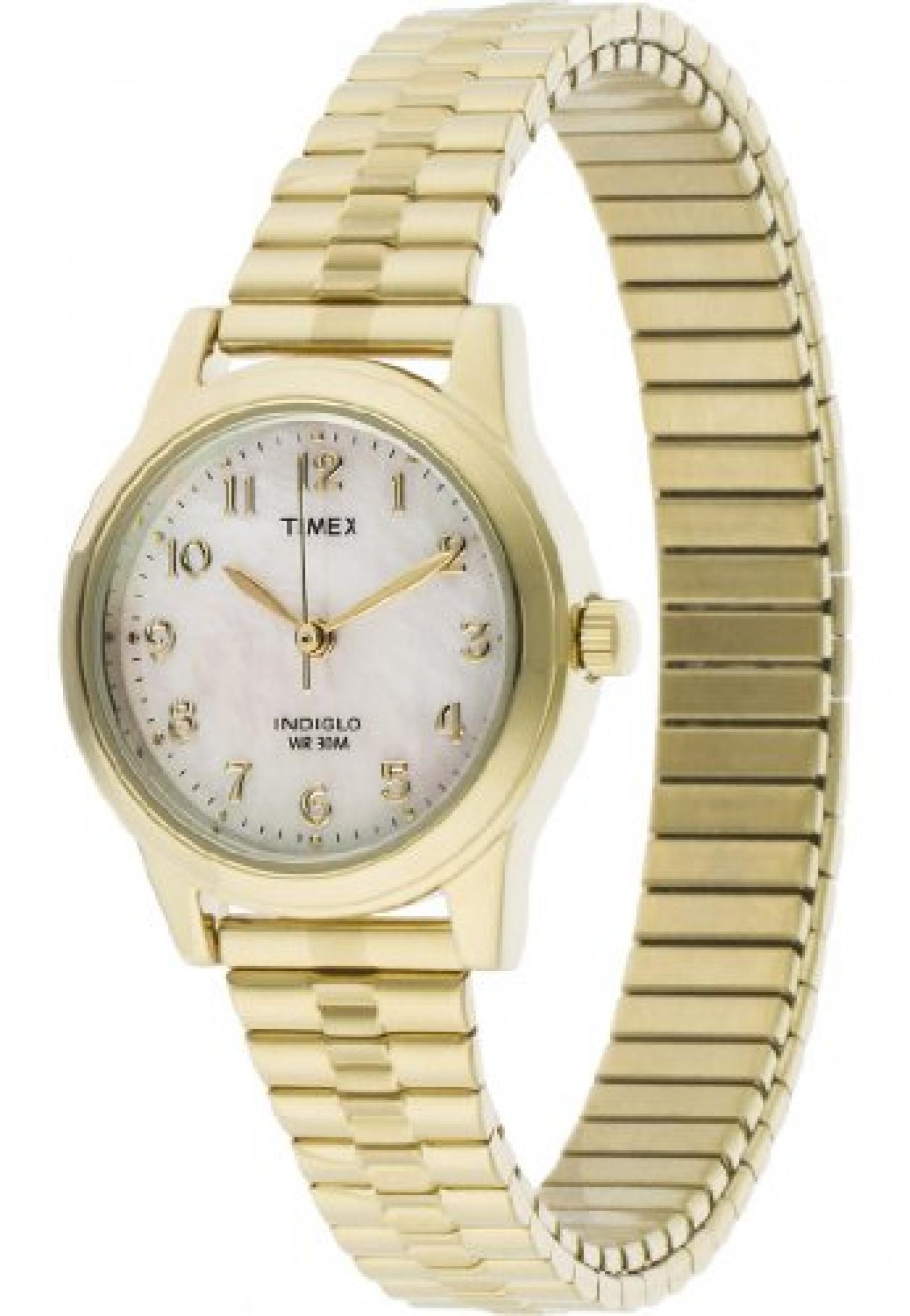 Timex Damen-Armbanduhr Core Expansion Analog Quarz (One Size, perlmutt)