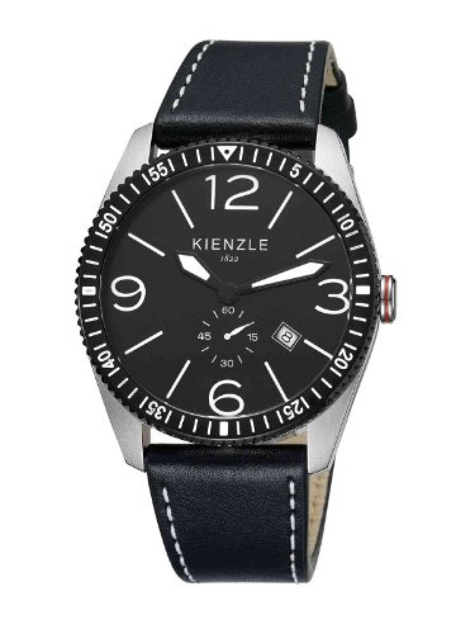 Kienzle Herren-Armbanduhr XL Analog Leder K8041123011