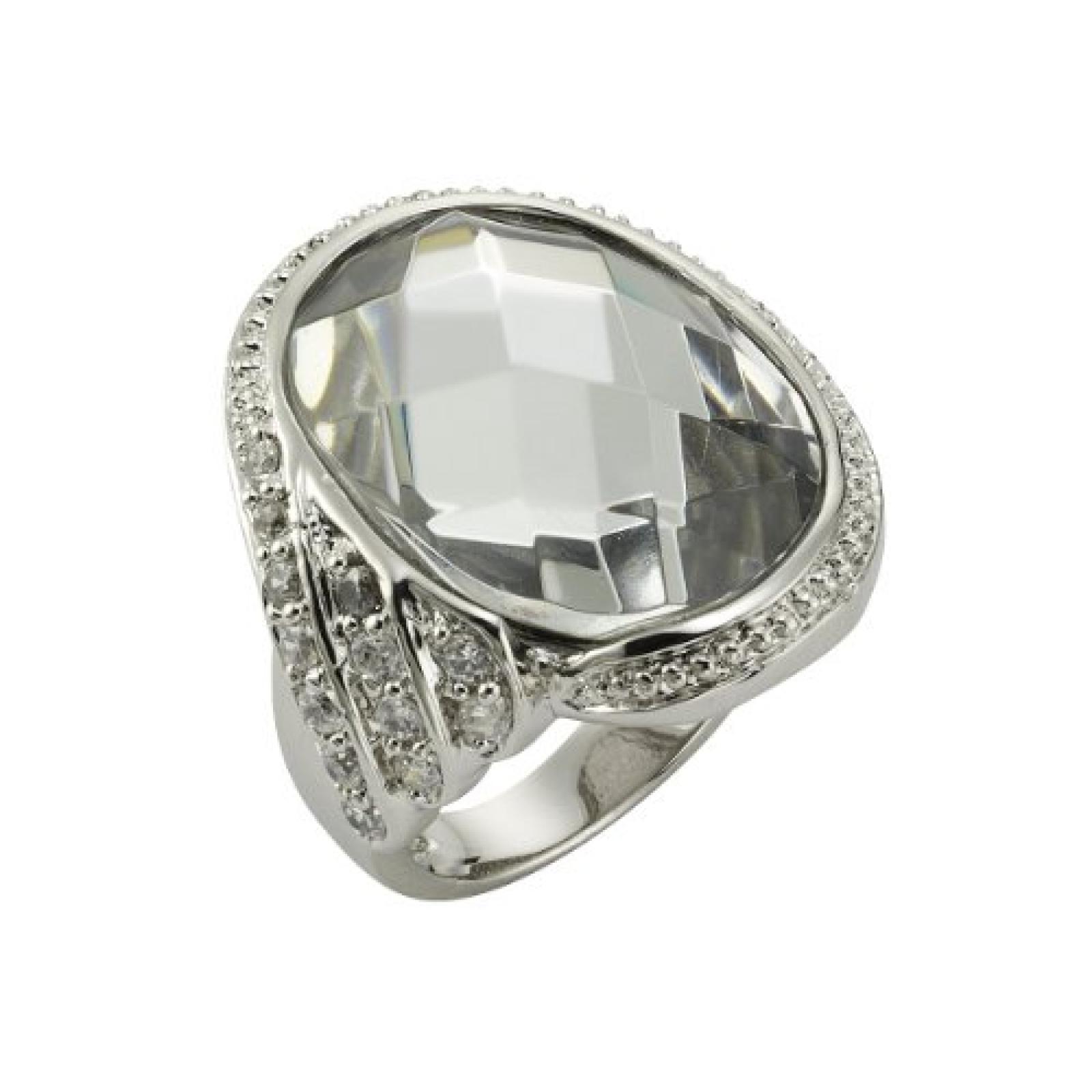 Celesta Damen-Ring Fashion Messing Kristall + Zirkonia weiß 57 (18.1) 360070400-018