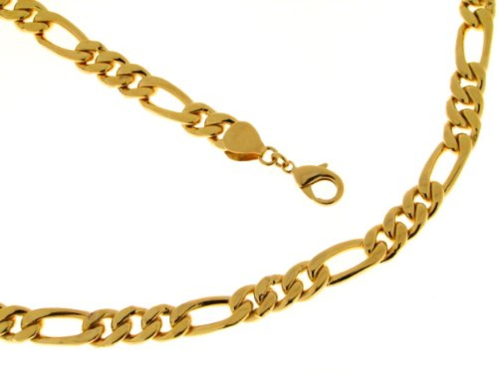 BOB C. Herren-Halskette ohne Anhänger Messing Figaro 10,0 mm 296194