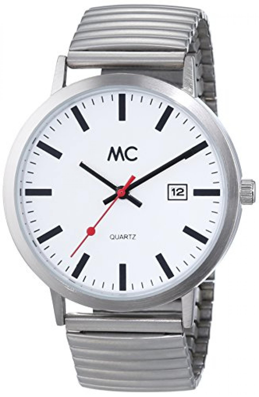 MC Timetrend Herren-Armbanduhr XL Bahnhofsuhr Analog Quarz Messing 27679