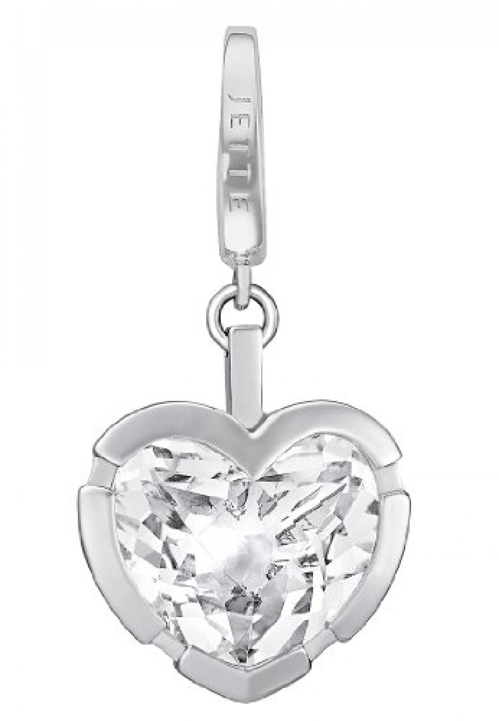 JETTE Charms Damen-Charm CHARM 925er Silber rhodiniert 1 Quarz One Size, silber