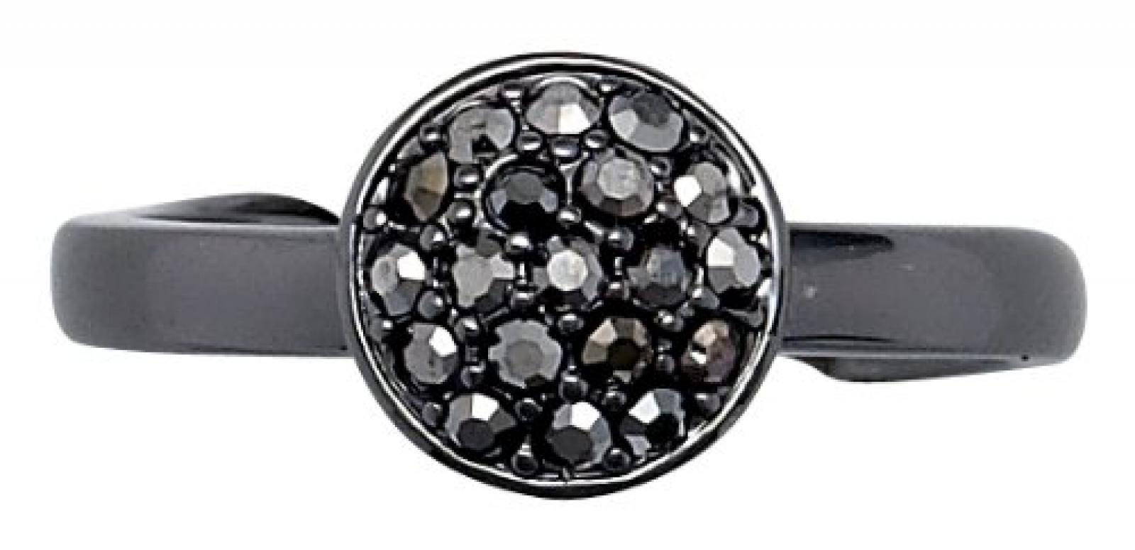 Pilgrim Jewelry Damen-Ring aus der Serie Classic hematite beschichtet grau 0.9 cm verstellbar Gr. 51-59 601313004