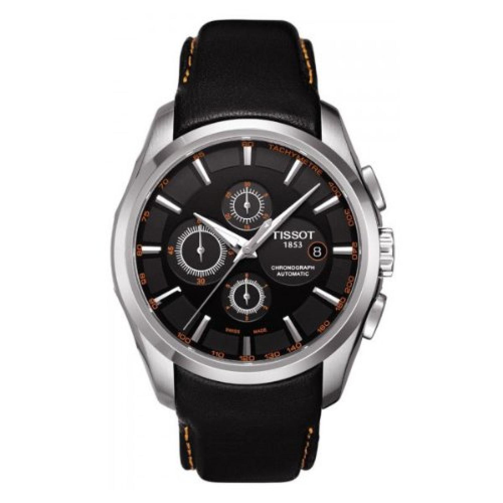 Tissot Herren-Armbanduhr COUTURIER Leder T0356271605101