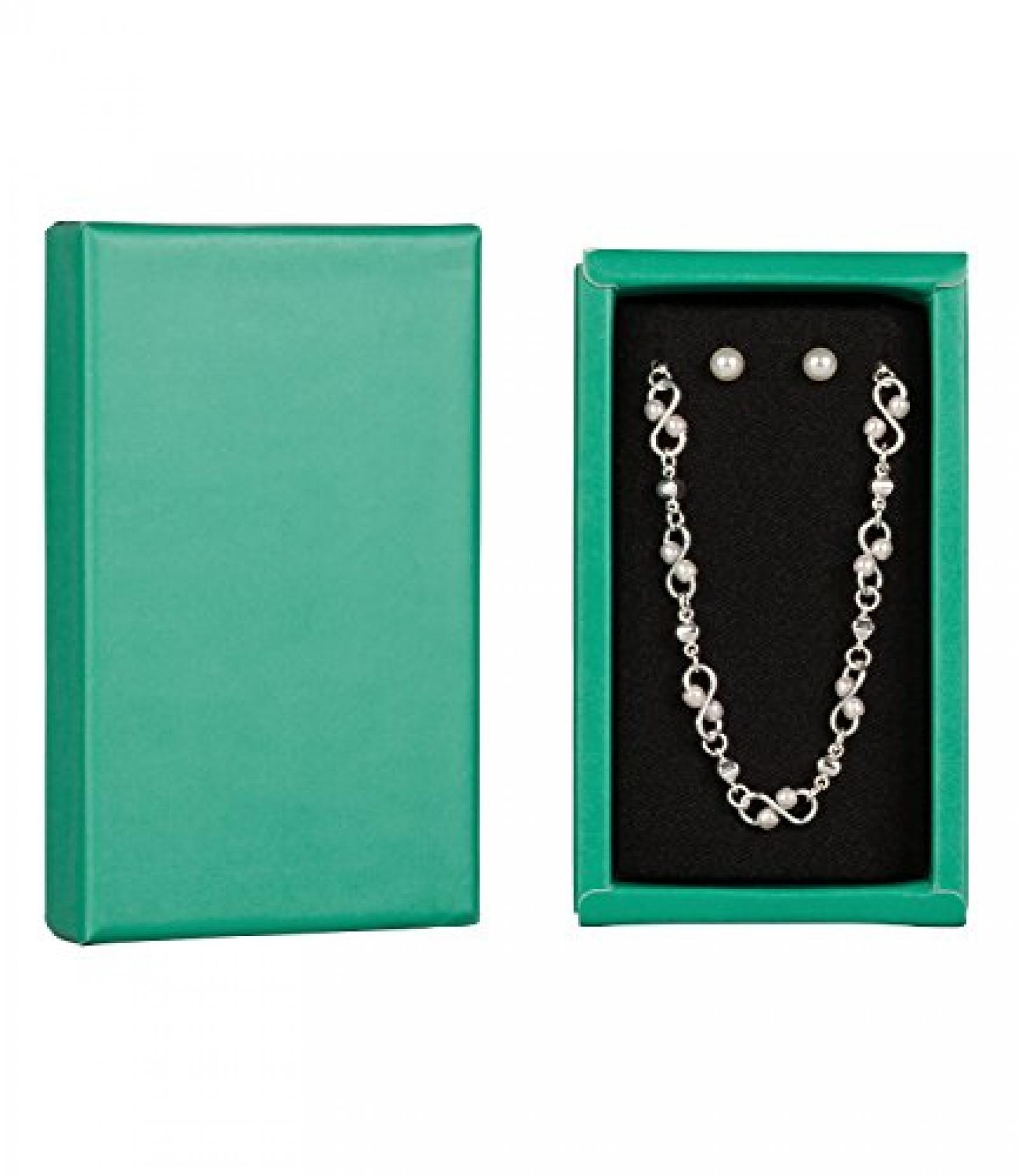 """SIX """"Xmas Sets"""" Geschenk Box mit Kette und Ohrsteckern, Perlen, silber (388-228)"""