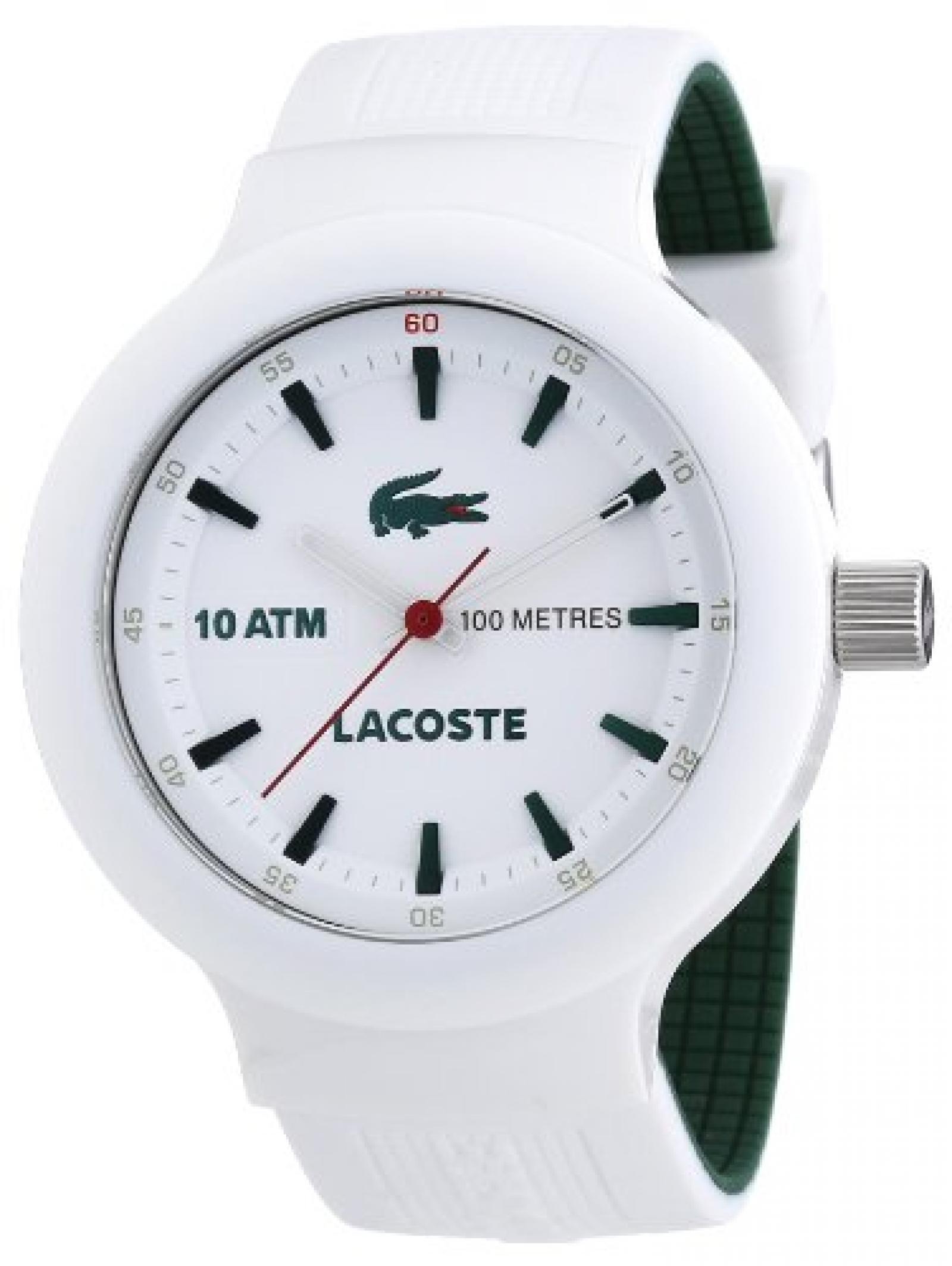Lacoste Herren-Armbanduhr XL Analog Quarz Silikon 2010661
