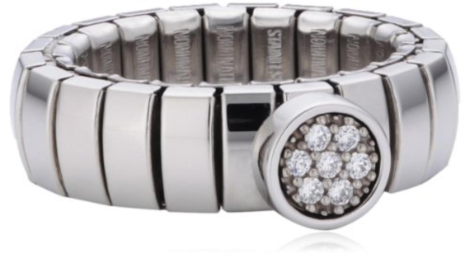 Nomination Damen-Ring Lotus Stahl Silber Zirkonia Swarovski 043102/010