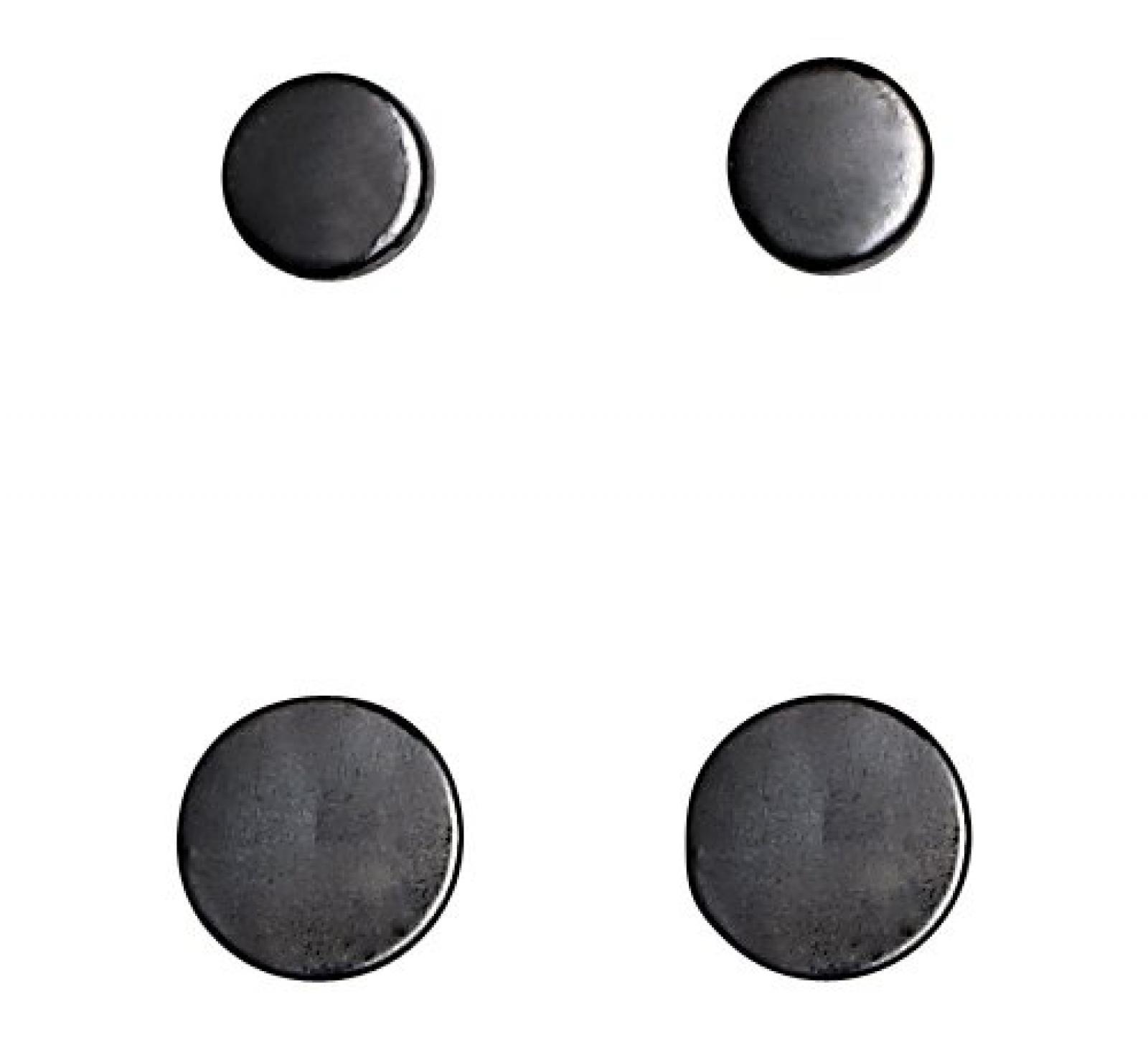 Pilgrim Jewelry Damen-Ohrstecker aus der Serie On one card hematite beschichtet 0.4 + 0.5 cm 311313003