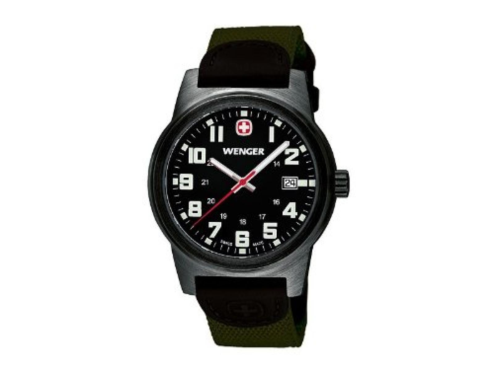 Wenger Herren-Armbanduhr XL Field Classic Analog Quarz Nylon 72814W