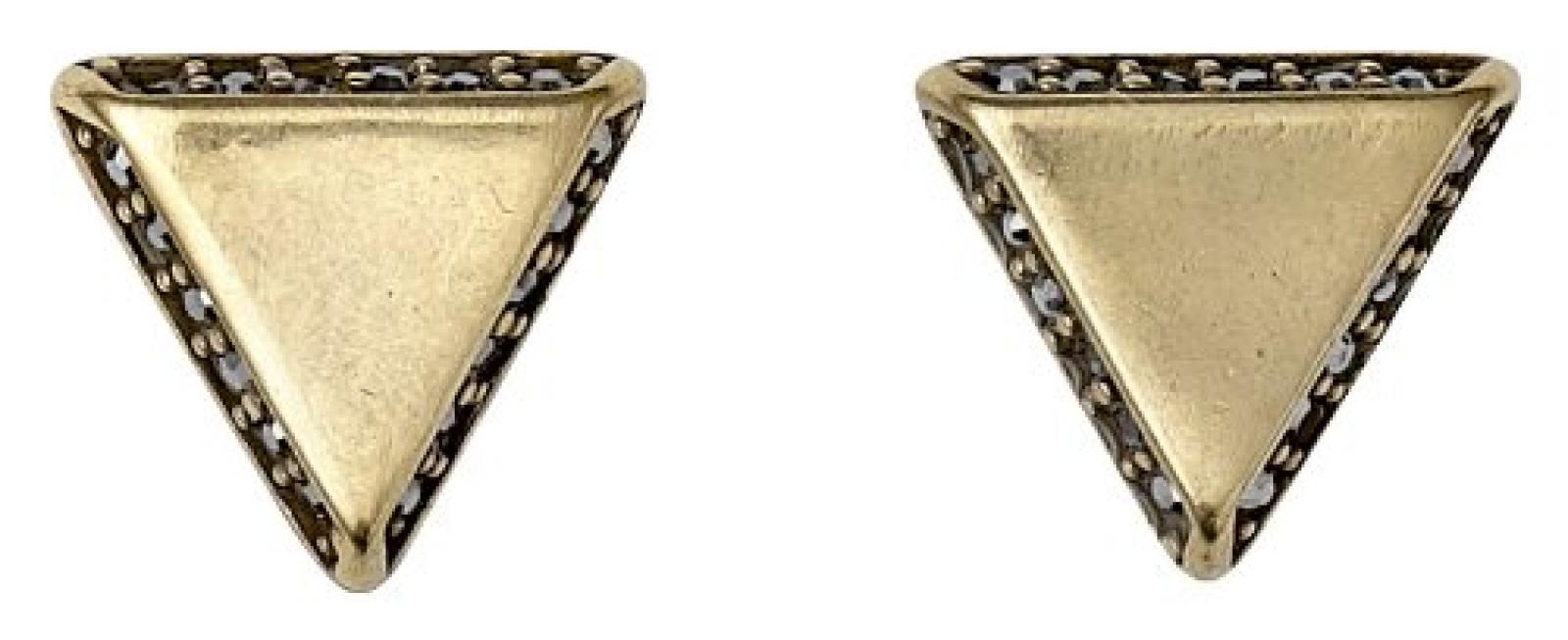 Pilgrim Jewelry Damen-Ohrenstecker  aus der Serie Philosophy vergoldet grau 1.0 cm 151312103
