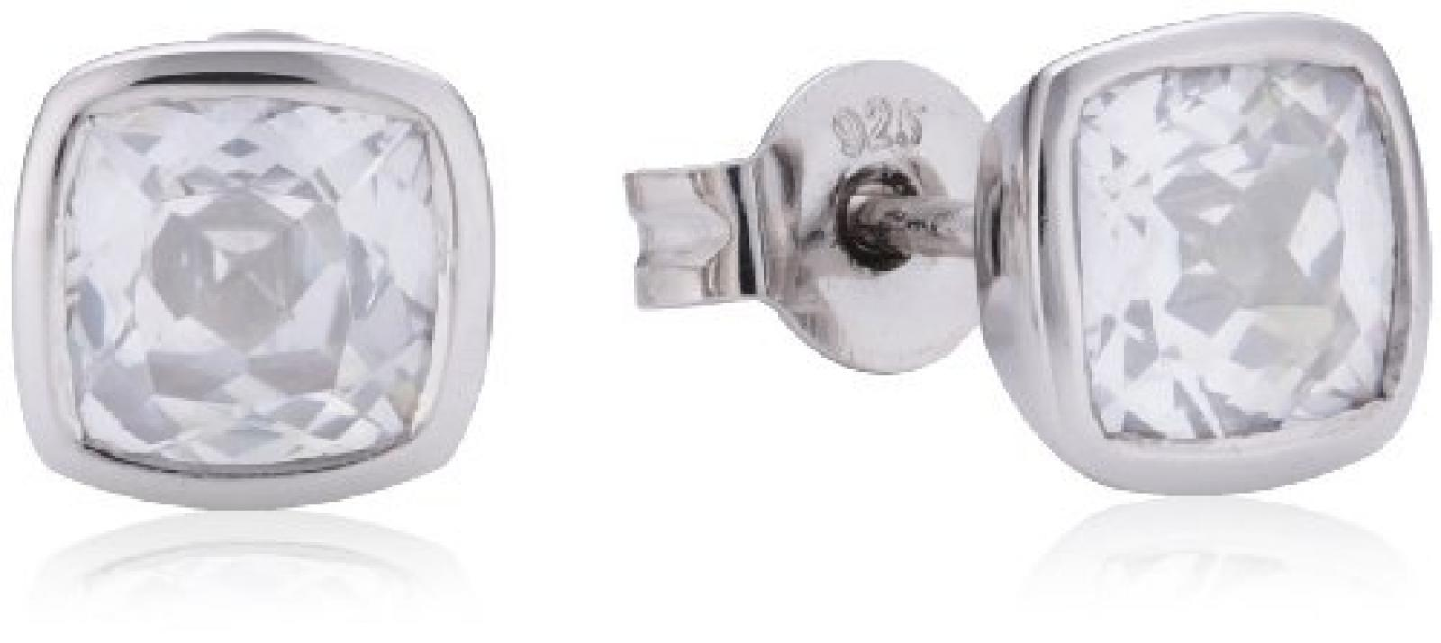 Viventy Damen-Ohrstecker 925 Sterling Silber mit 1 Zirkonia in weiss 764454