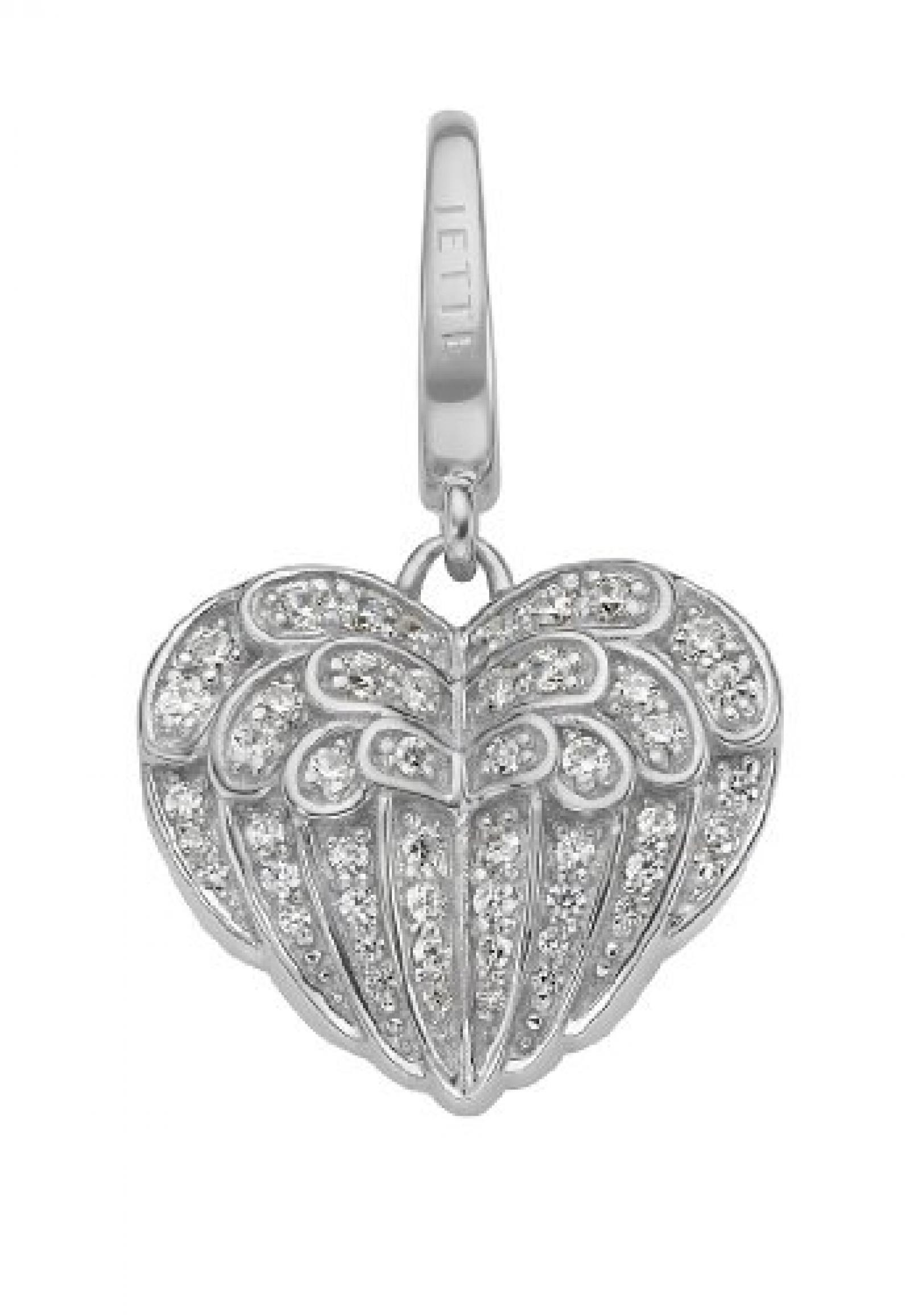 JETTE Charms Damen-Charm CHARM 925er Silber 50 Zirkonia One Size, silber