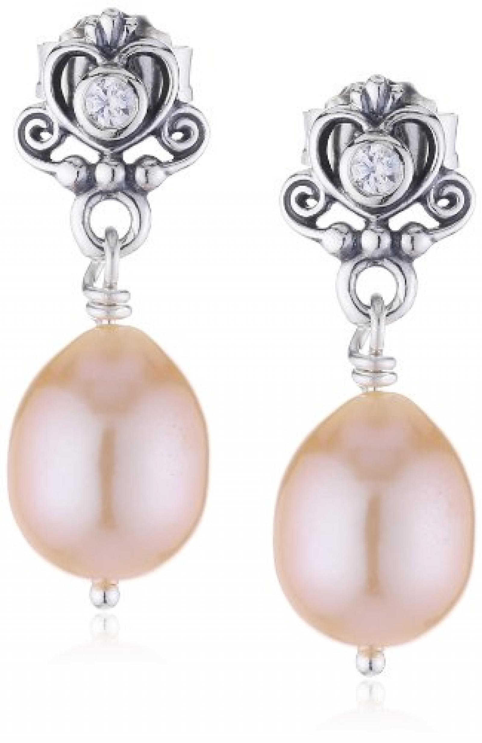 Pandora Damen-Ohrringe 925 Sterling Silber Zirkonia weiß 290536CZ