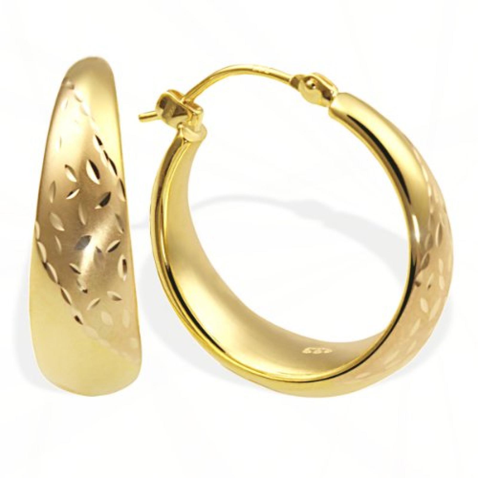 Goldmaid Damen-Creolen 333 Gelbgold Pr O4332GG