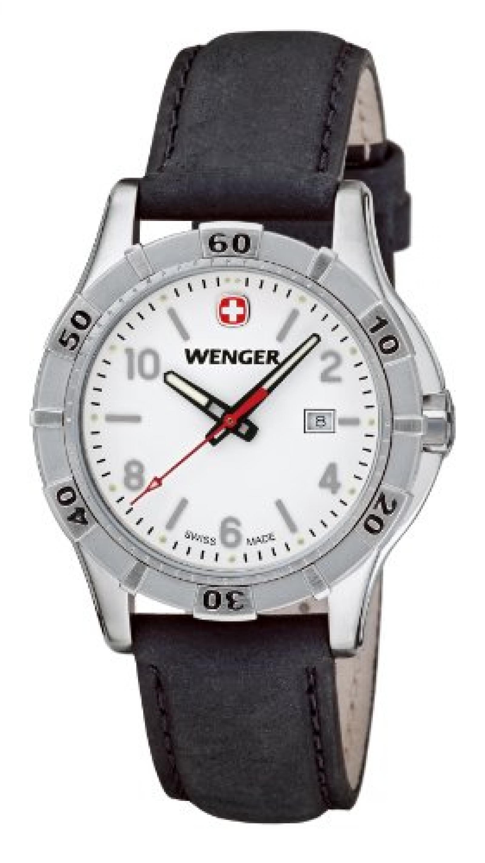 Wenger Damen-Armbanduhr XS Platoon Analog Quarz Leder 01.9211.102