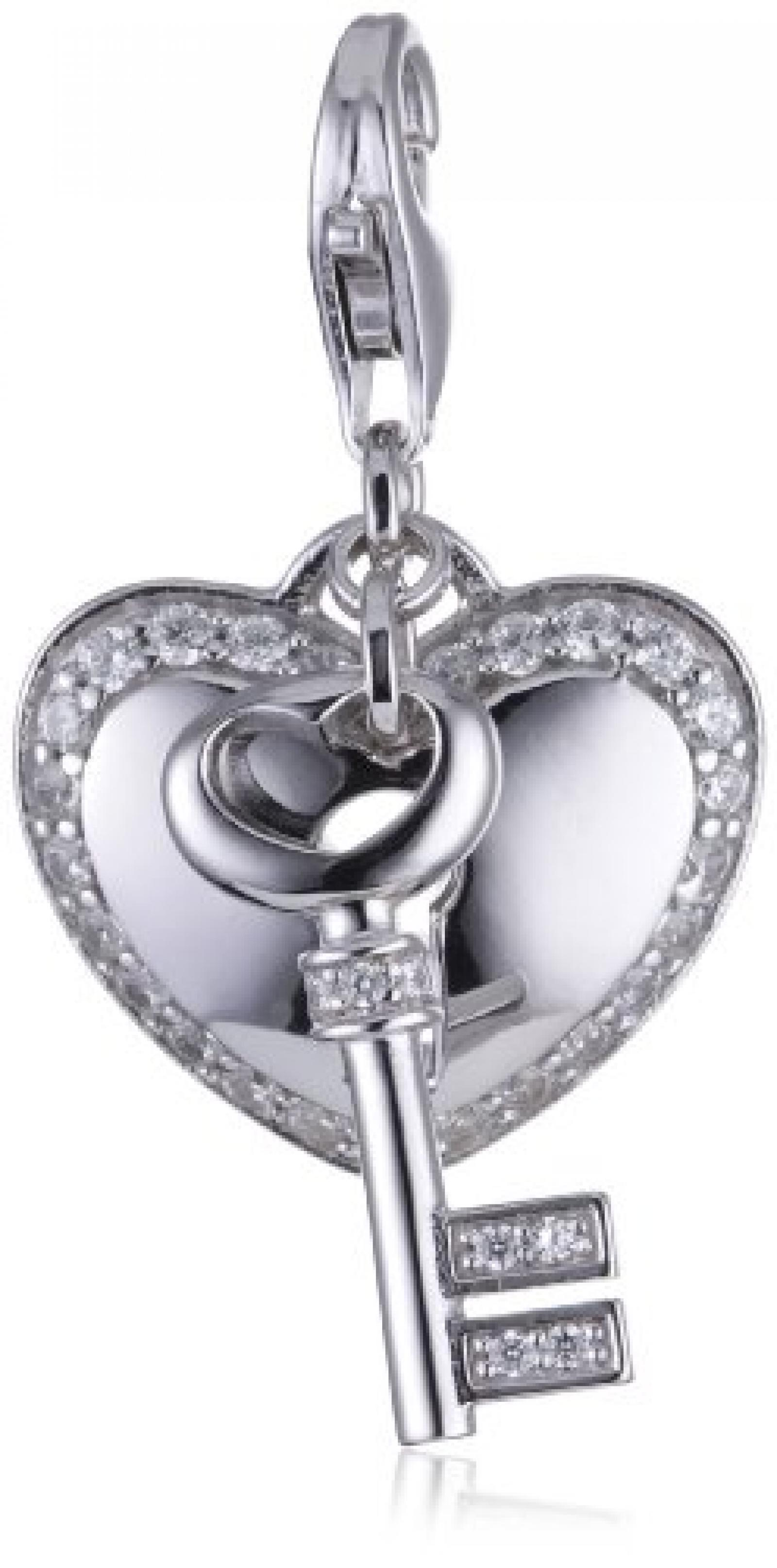 Esprit Anhänger CHARM LOCKED HEART 925 Sterling Silber S.ESZZ90766A000