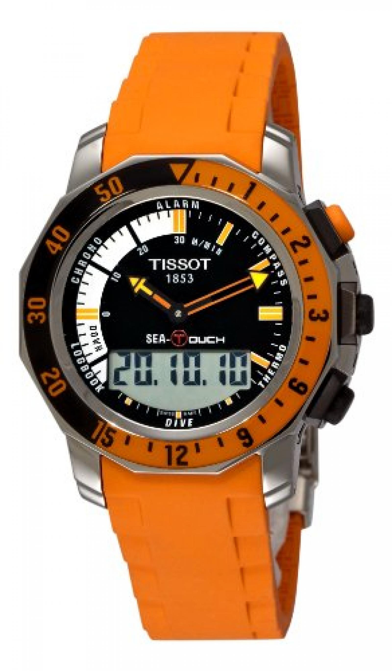 Tissot Herren-Armbanduhr XL Sea-Touch Analog - Digital Quarz Kautschuk T026.420.17.281.02
