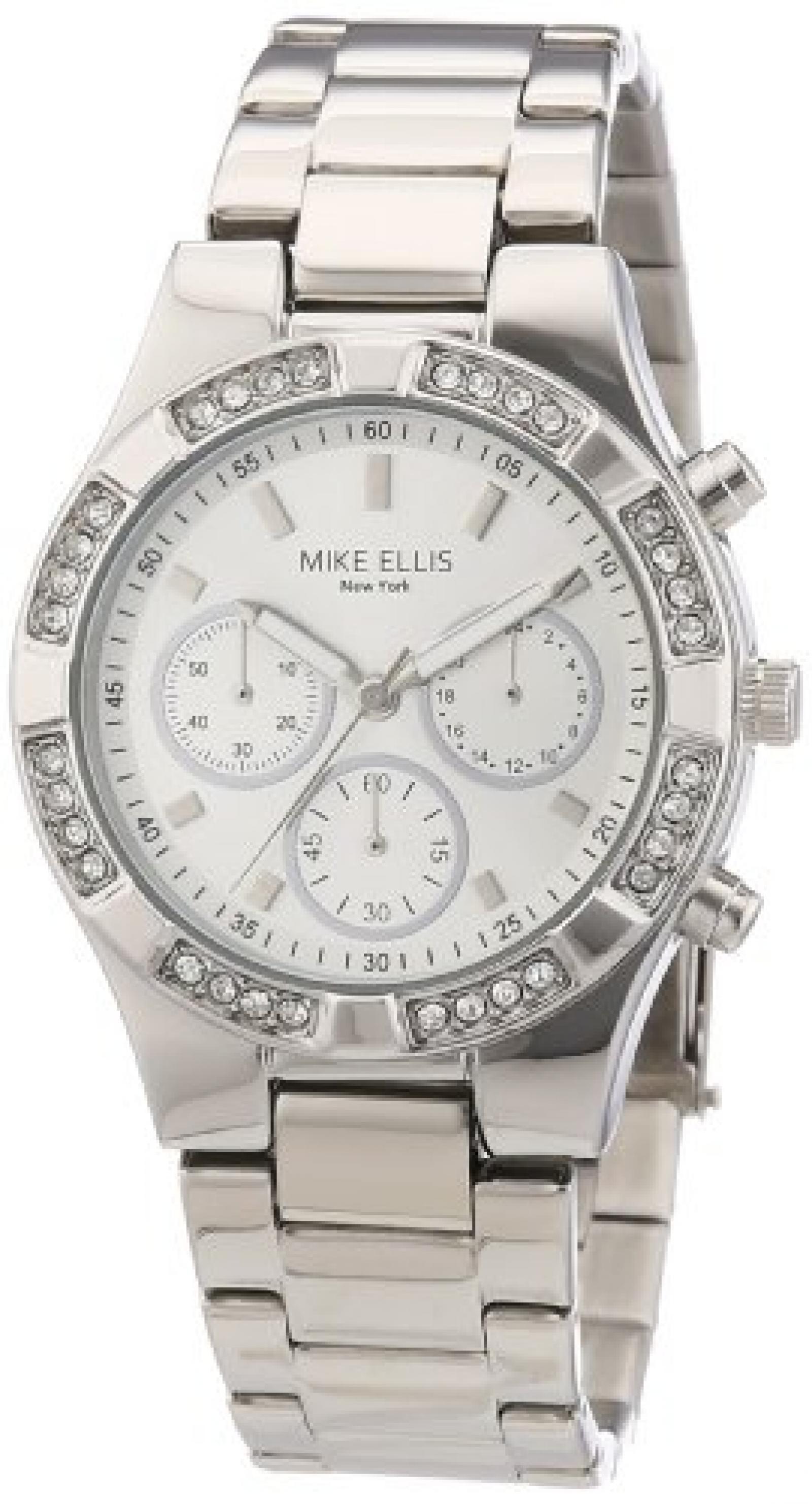 Mike Ellis New York Damen-Armbanduhr XS Analog Quarz Edelstahl L2698ASM