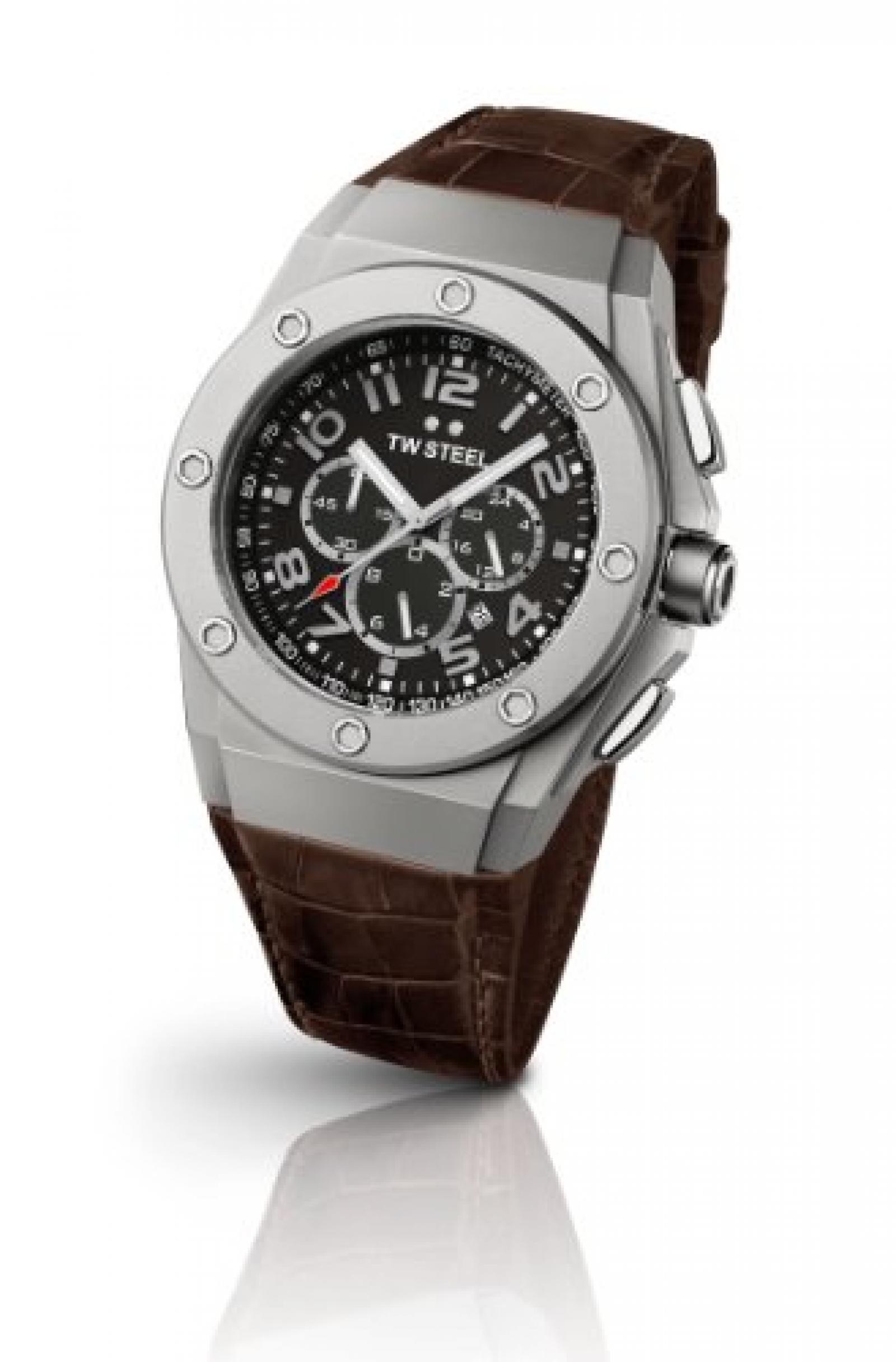 TW Steel Unisex-Armbanduhr CEO TECH Chronograph Quarz Leder TWCE4013