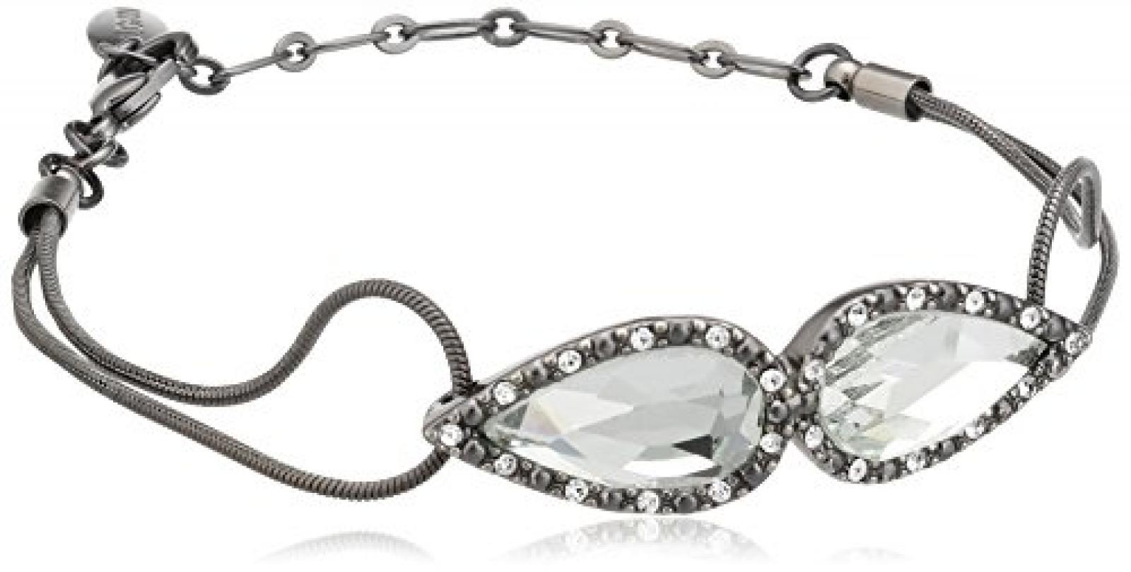 Pilgrim Damen-Armband delicate night hematite plated kristall 22 cm 12114-3002