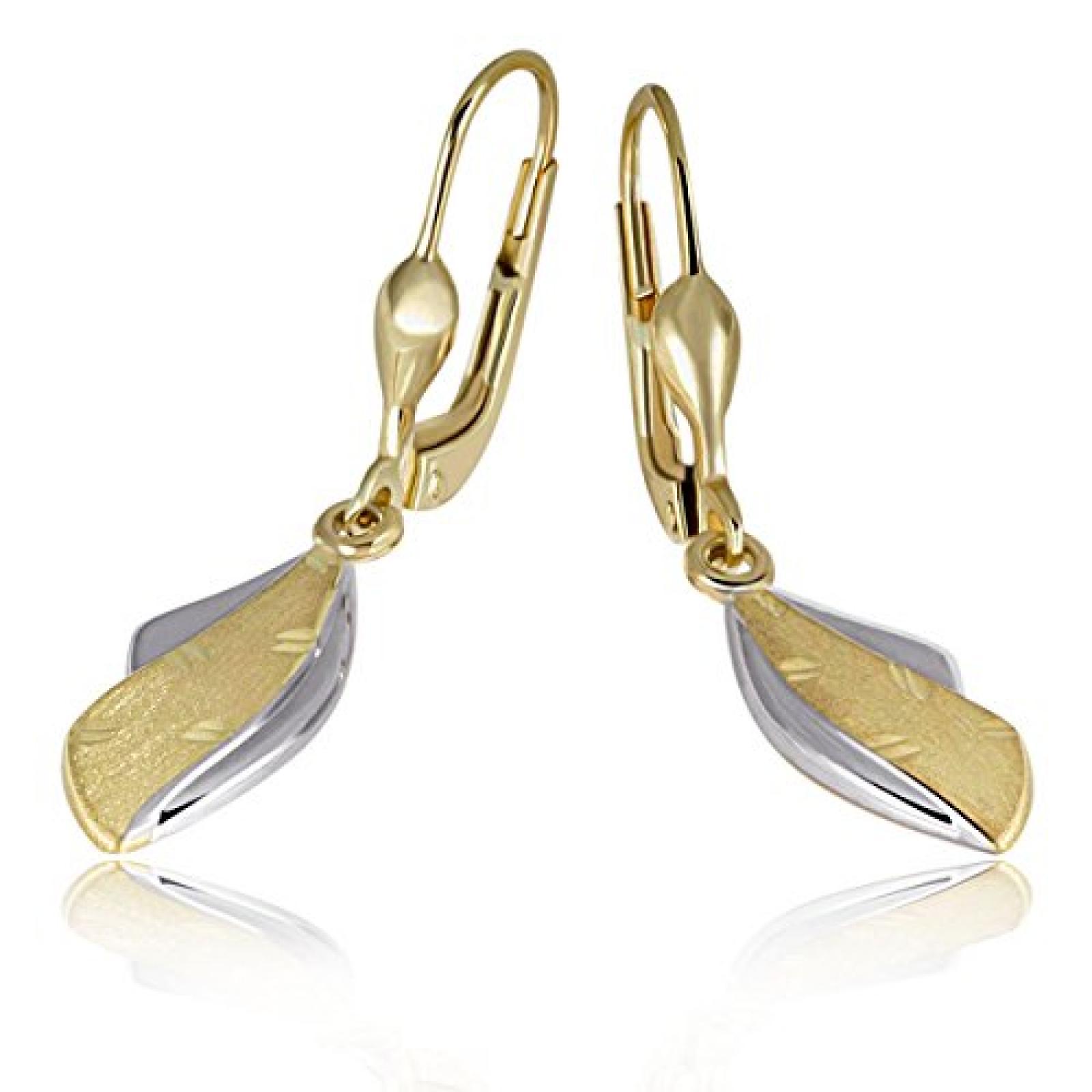goldmaid Damen-Ohrhänger 333 Bicolor Gold Pr O4400GG