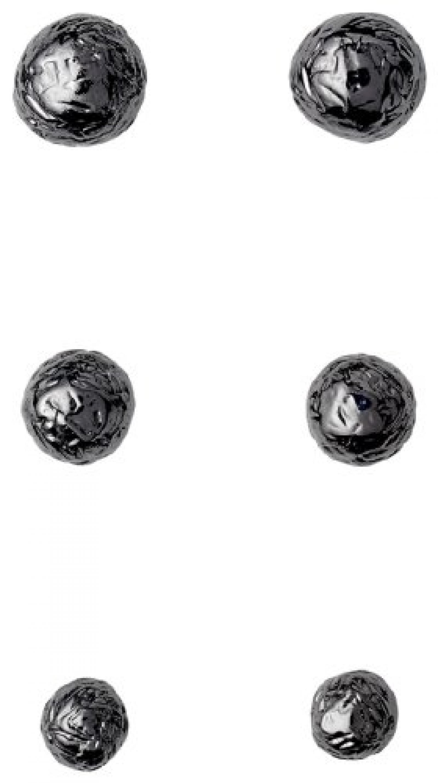 Pilgrim Jewelry Damen-Set: 3 Paar Ohrstecker Messing Ear post 0 0.3/0.4/0.5 cm 311343003