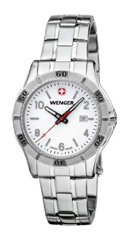 Wenger Damen-Armbanduhr XS Platoon Analog Quarz Edelstahl 01.9211.103